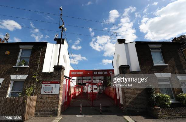 View of the entrance inbetween residential houses ahead of the Sky Bet Championship Play Off Semifinal 2nd Leg match between Brentford and Swansea...