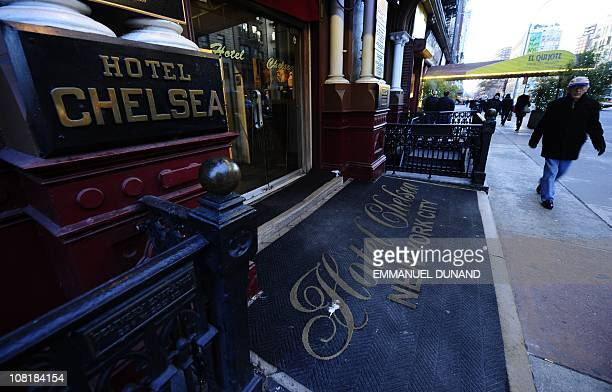 A view of the entrance of the Chelsea Hotel in New York January 10 2011 The Chelsea Hotel a haven for struggling artists for over 50 years is for...