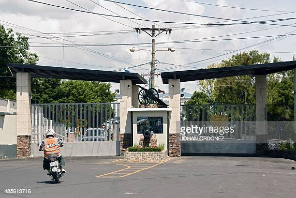 View of the entrance of the Matamoros military barracks where former VicePresident Roxana Baldetti is in preventive detention in Guatemala City on...