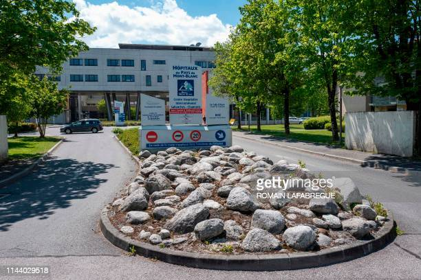 View of the entrance of the Sallanches Hospital where Jose Antonio Urrutikoetxea Bengoetxea also known as Josu Ternera one of the most influential...