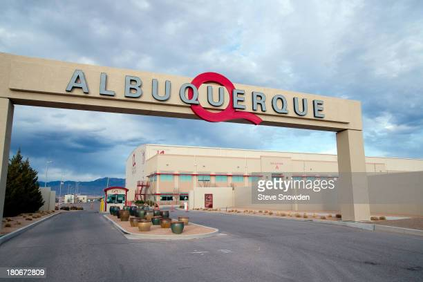 A view of the entrance to Albuquerque Studios on March 16 2013 in Albuquerque New Mexico Sound stages were constructed here for filming the interiors...