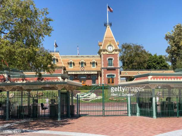 View of the entrance to Disneyland Park, which has been closed since March 14 due to the coronavirus pandemic, Wednesday, Sept. 30, 2020 in Anaheim,...