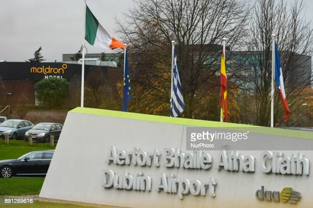 A view of the entrance to Dublin's airport on the day that some of the Irishbased airline's pilots decided to take preChristmas strike action The...
