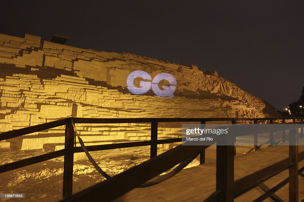 View of the entrance to the awards ceremony GQ Men of the Year 2012 at La Huaca Pucllana on November 23, 2012 in Lima, Peru.