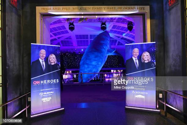 A view of the entrance to the ballroom during the 12th Annual CNN Heroes An AllStar Tribute at American Museum of Natural History on December 9 2018...