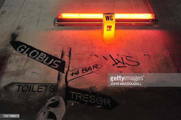 View of the entrance to the Tresor nightclub in the basement of the 'Trafo' art space located in a disused power station in Berlin September 21 2010...