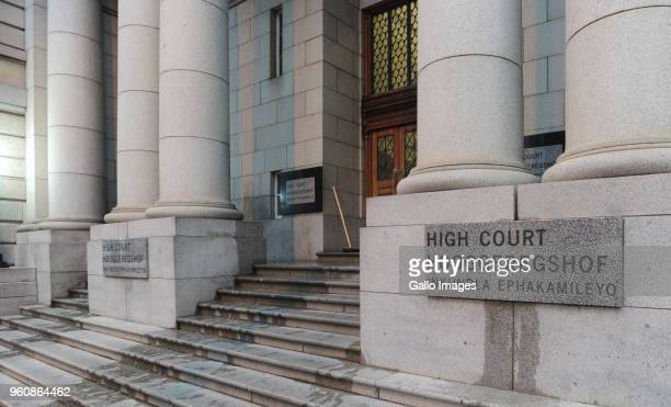 A view of the entrance to the Western Cape High Court on May 21 2018 in Cape Town South Africa Henri van Breda is accused of murdering three members...