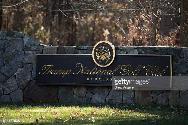 View of the entrance to Trump National Golf Club, where president-elect Donald Trump is scheduled to have meetings this weekend, November 18, 2016 in...
