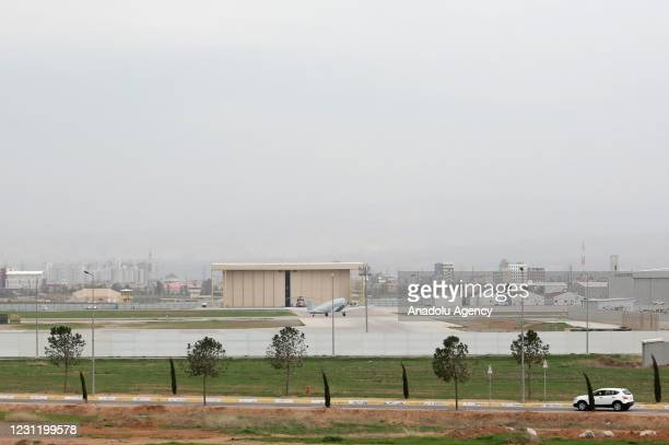 View of the Erbil International Airport after flights restarted, following a rocket attack outside the international airport, in Erbil, Iraq on...