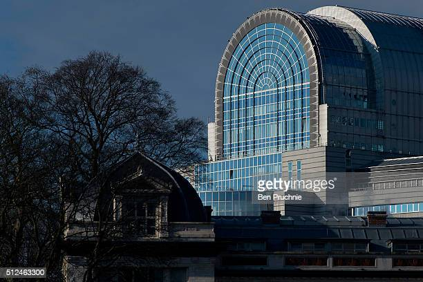 A view of the Espace Leopold in the European Quarter on February 24 2016 in Brussels Belgium Brussels is often referred to as the unofficial capital...