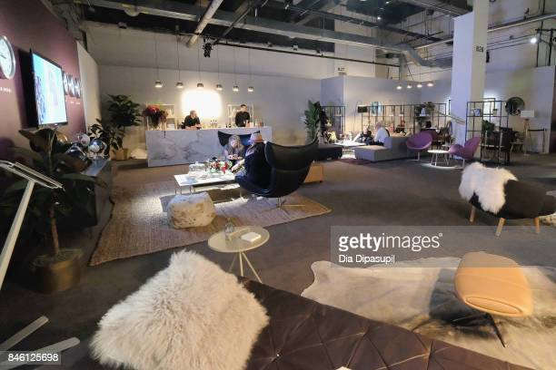 A view of the Etihad Airways lounge September 2017 New York Fashion Week The Shows Day 6 on September 12 2017 in New York City