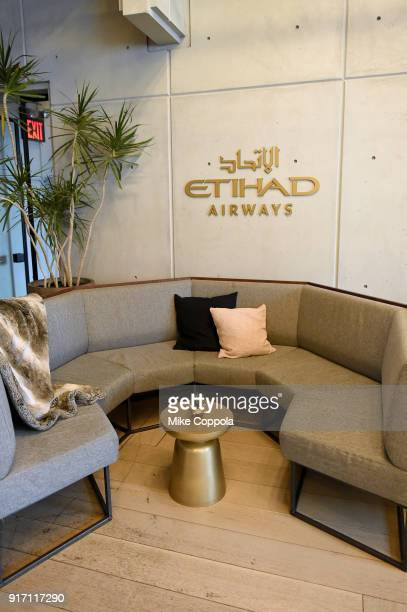 A view of the Etihad Airways VIP Lounge at NYFW The Showsduring New York Fashion Week The Shows on February 11 2018 in New York City