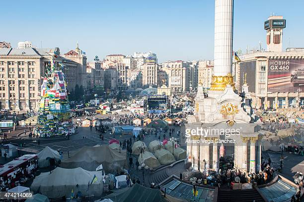 CONTENT] View of the Euromaidan during the riots and political unrest of 20132014