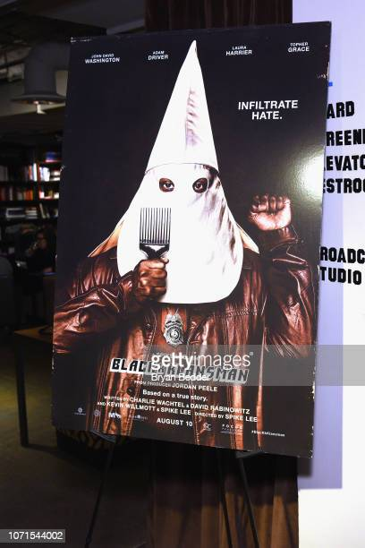 """View of the event signage during the """"BlacKkKlansman"""" Tastemaker at Neuehouse on December 10, 2018 in New York City."""