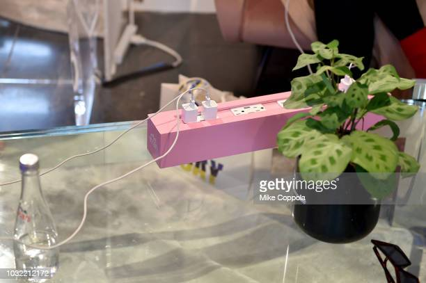 A view of the Evian recharging station is Seen Around New York Fashion Week The Shows at Spring Studios on September 12 2018 in New York City