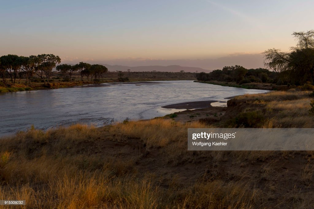 View Of The Ewaso Nyiro River In The Samburu National