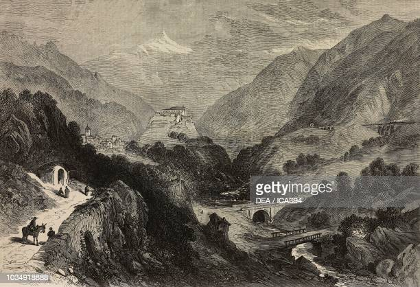 View of the Exilles Fort Susa Valley Italy engraving from The Illustrated London News No 1674 October 14 1871