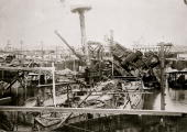 View of the exposed wreckage of the battleship uss maine in a in picture id102976717?s=170x170