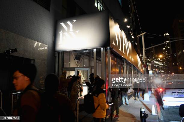 A view of the exterior and Lexus fleet at IMG NYFW The Shows LOBBY on February 12 2018 in New York City