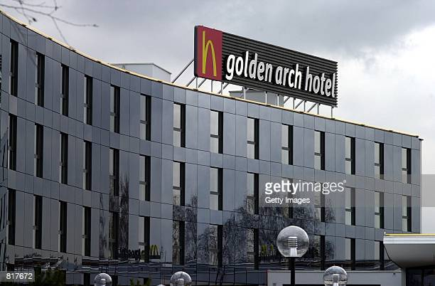 A view of the exterior of a McDonald's themed hotel November 9 2000 near Zurich Switzerland The rooms inside the hotel were designed with adjustable...