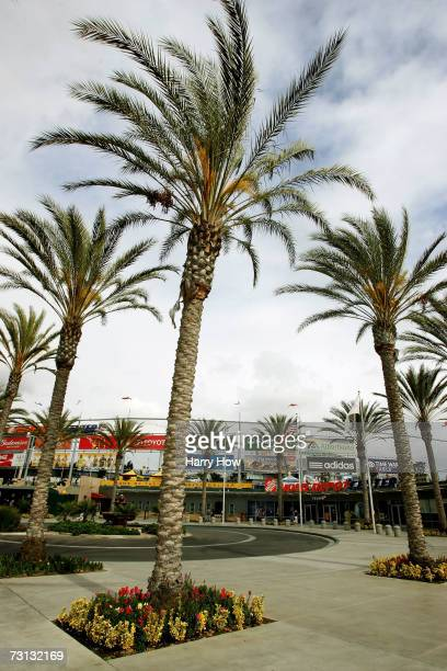 A view of the exterior of Home Depot Center home to the Los Angeles Galaxy at the Open House for season ticket sales on January 27 2007 in Carson...