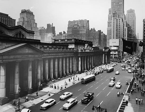 View Of Penn Station From Seventh Avenue Wall Art