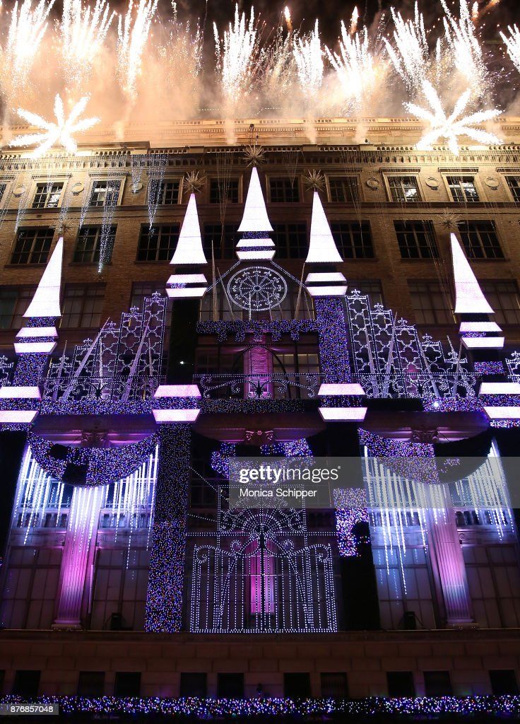 A View Of The Exterior Of Saks Fifth Avenue During The 2017 Saks Fifth  Avenue Holiday
