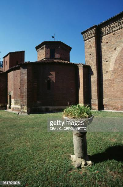 View of the exterior of St Peter's baptistery Asti Piedmont Italy 12th15th century