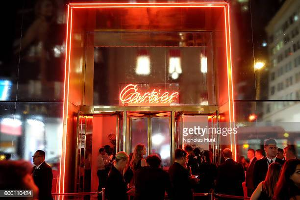 A view of the exterior of the after party venue at the Cartier Fifth Avenue Grand Reopening Event at the Cartier Mansion on September 7 2016 in New...