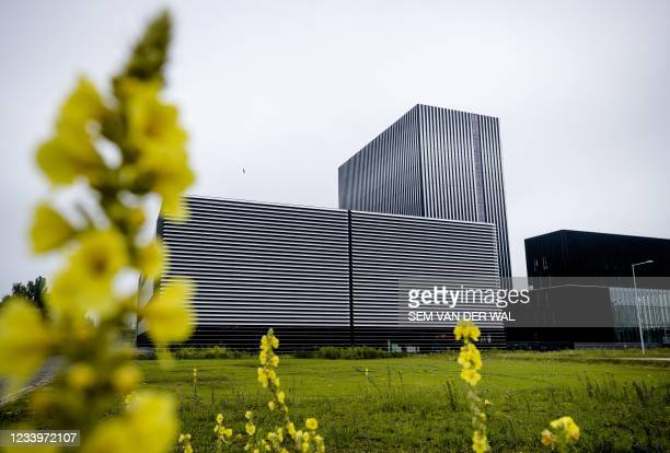 View of the exterior of the American the Internet connection and data center company Equinix in Amsterdam on July 14, 2021. - Netherlands OUT /...