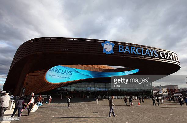 A view of the exterior of the Barclays Center on November 3 2012 in the Brooklyn borough of New York City NOTE TO USER User expressly acknowledges...