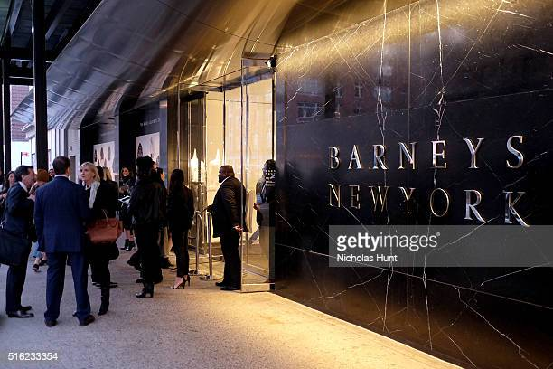 A view of the exterior of the building as Barneys New York celebrates its new downtown flagship in New York City on March 17 2016 in New York City