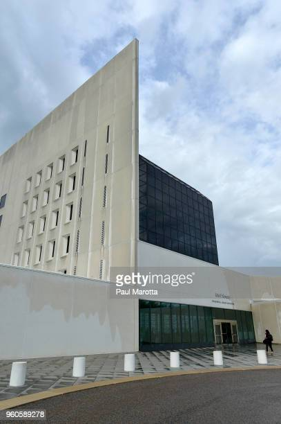 A view of the exterior of the John F Kennedy Library where New Orleans Mayor Mayor Mitch Landrieu will receive the JFK Profile In Courage Award on...
