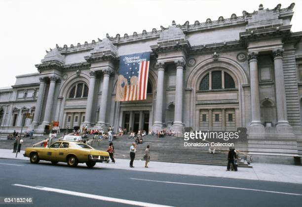 A view of the exterior of The Metropolitan Museum of Art located at 5th Avenue and E 82nd street in1976 in New York City New York
