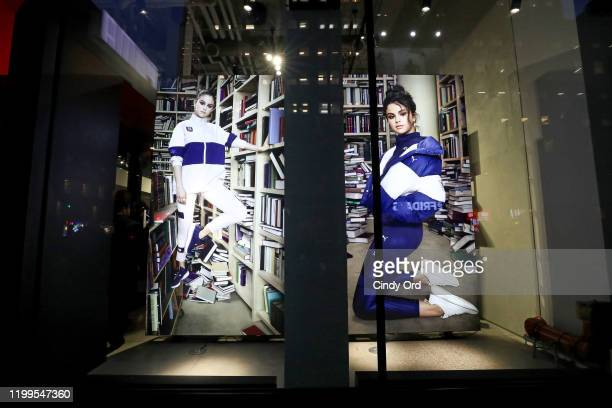 A view of the exterior of the PUMA Flagship store during the Meet Greet with Selena Gomez at PUMA Flagship on January 14 2020 in New York City
