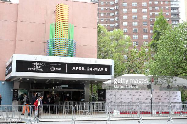 """View of the exterior of the SVA Theater at """"Fierce: Stories Of Women Who Changed The World"""" during the 2019 Tribeca Film Festival, at SVA Theater on..."""