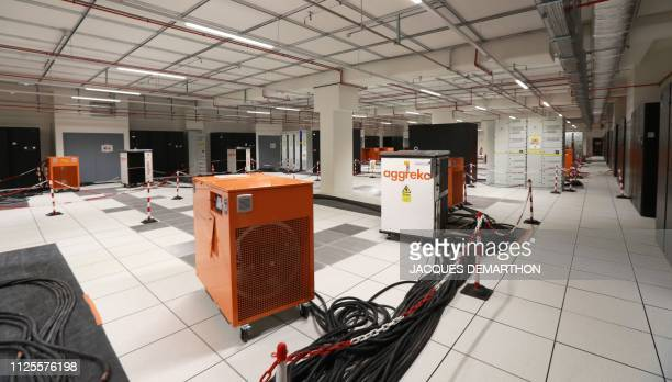 A view of the extreme temperature resistance test room at the Equinix Paris data centre called PA8 Equinix's first International Business Exchange in...