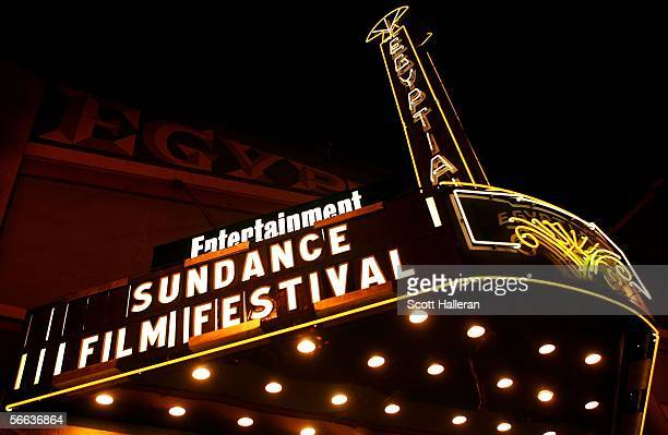 View of the Eygptian Theatre during the 2006 Sundance Film Festival on Main Street January 20 2006 in Park City Utah