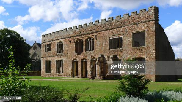 view of the facade of astley castle - stevebphotography stock pictures, royalty-free photos & images