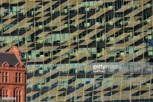 A view of the facade of the Central Bank new HQ in Dublins Docklands On Monday March 20 in Dublin Ireland