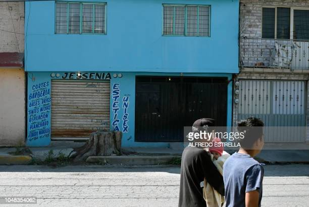 View of the facade of the house belonging to Juan Carlos and his wife Patricia alleged murderers of 20 women in the neighborhood of Jardinez de...