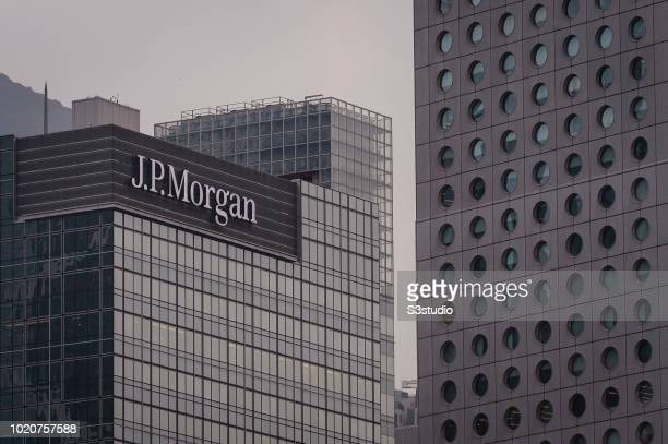 View of the facade of U.S. Investment bank JPMorgan Chase & Co's Asia headquarters on August 21 2018 in Hong Kong, Hong Kong.