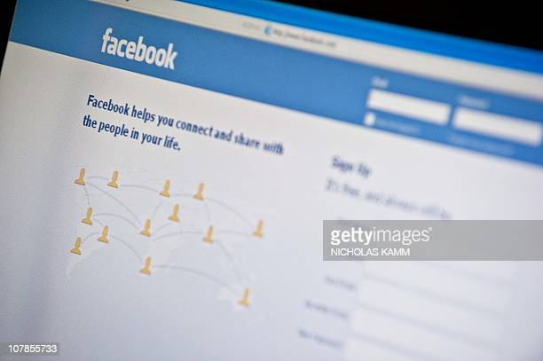 View of the Facebook homepage taken in Washington,DC on January 3, 2011. Social-networking giant Facebook could flex its growing might after...