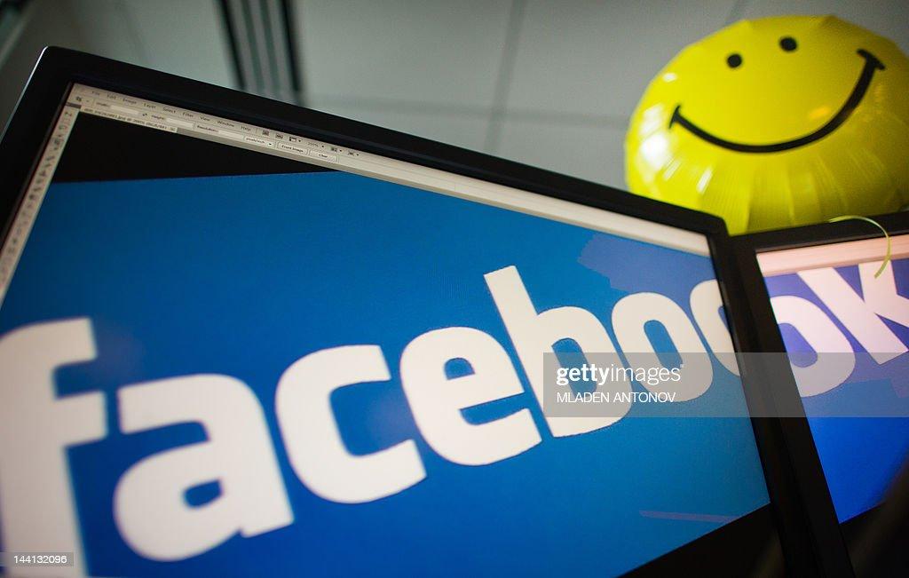 View of the Facebook logo taken in Washi : News Photo