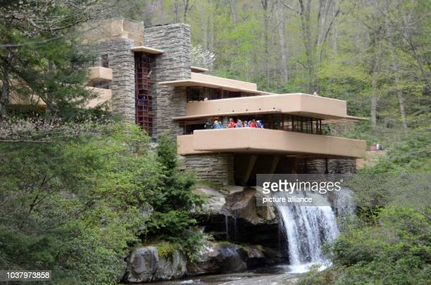 View of the famous 'Fallingwater' mansion by the late US-architect Frank Lloyd Wright near Pittsburg, USA, 9 May 2014. Fallingwater, which is...
