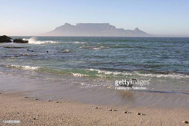 View of the famous Table Mountain from Bloubergstrand, Cape Town, South Africa