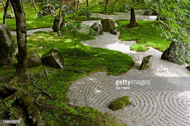 View of the famous zen gardens at the Komyozenji Temple in Dazaifu, which was first built in 1275 during the Kamakura period..