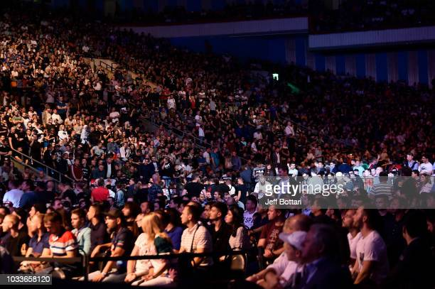 A view of the fans at the UFC Fight Night event at Olimpiysky Arena on September 15 2018 in Moscow Russia