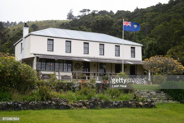 A view of the Farm Lodge hotel on October 23 2017 in Saint Paul's Saint Helena Following the introduction of weekly flights to the island resident St...