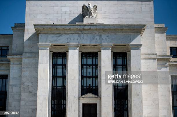A view of the Federal Reserve is seen on May 2 2018 in Washington DC The Fed is not expected to raise the benchmark lending rate later Wednesday when...